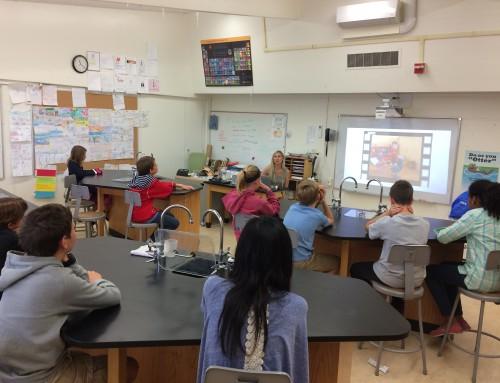 Un atelier nutrition dans un collège franco-américain